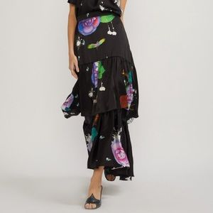 Size 2 - Cynthia Rowley floral tiered maxi skirt